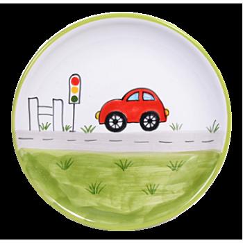 Autó Reggelizős tányér