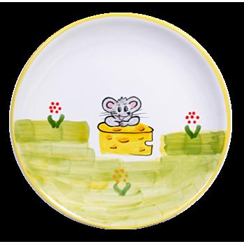 Egér Reggelizős tányér