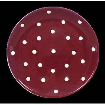 Desszertes tányér csoki-krém pöttyös