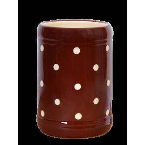 Fakanáltartó csoki-krém pöttyös