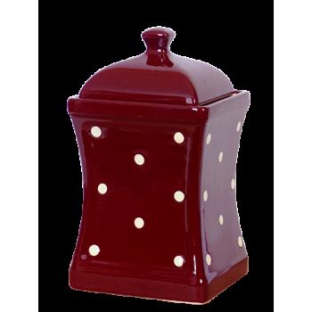Íves fűszertartó nagy csoki-krém pöttyös