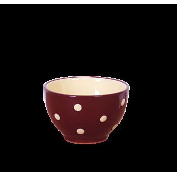 Kompótos/szószos tálka csoki-krém pöttyös