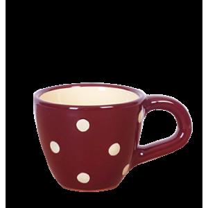 Kávés csésze csoki-krém pöttyös