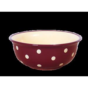 Müzlis tál nagy csoki-krém pöttyös