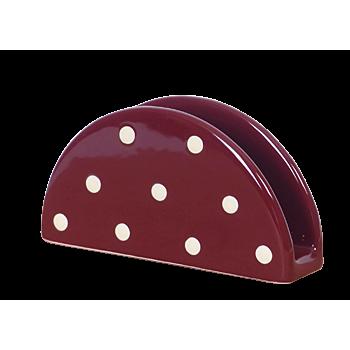 Szalvétatartó csoki-krém pöttyös