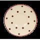 Csészealj, krém-csoki pöttyös