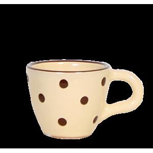 Kávés csésze krém-csoki pöttyös
