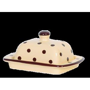 Vajtartó (10 dkg-os vajhoz) krém-csoki pöttyös