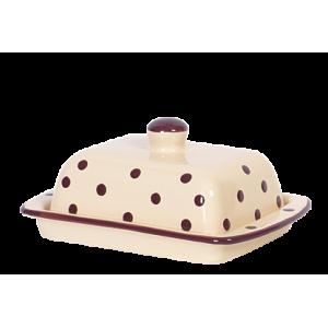 Vajtartó (25 dkg-os vajhoz) krém-csoki pöttyös