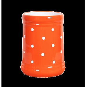 Fakanáltartó, narancs-fehér pöttyös