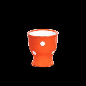 Tojástartó, narancs-fehér pöttyös