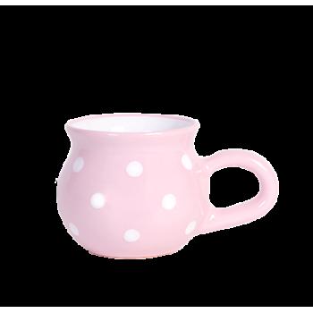 Hasas csupor 2,2 dl, pasztell rózsaszin-fehér pöttyös