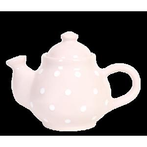 Kávé kanna pasztell rózsaszín-fehér pötty