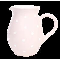 Rózsaszín-fehér pöttyös