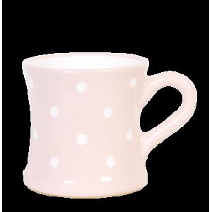 Íves bögre 4,5 dl, pasztell rózsaszin-fehér pöttyös
