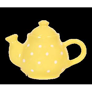 Kávé kanna pasztell sárga-fehér pötty