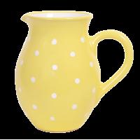 Pasztell sárga-fehér pötyös