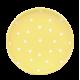 Desszertes tányér, pasztell sárga-fehér pöttyös