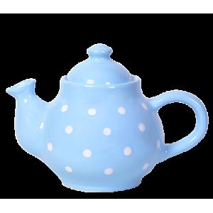 Kávé kanna pasztell kék-fehér pötty